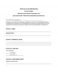 Iowa Articles of Incorporation Domestic Nonprofit Corporation