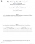 Massachusetts Articles of Organization Domestic For Profit Corporation | Form D