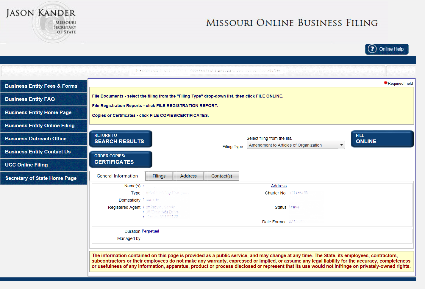 Free Missouri Articles Of Incorporation Templates | MO Secretary Of ...