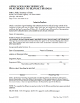 Nebraska Application for Certificate of Authority to Transact Business Profit Corporation