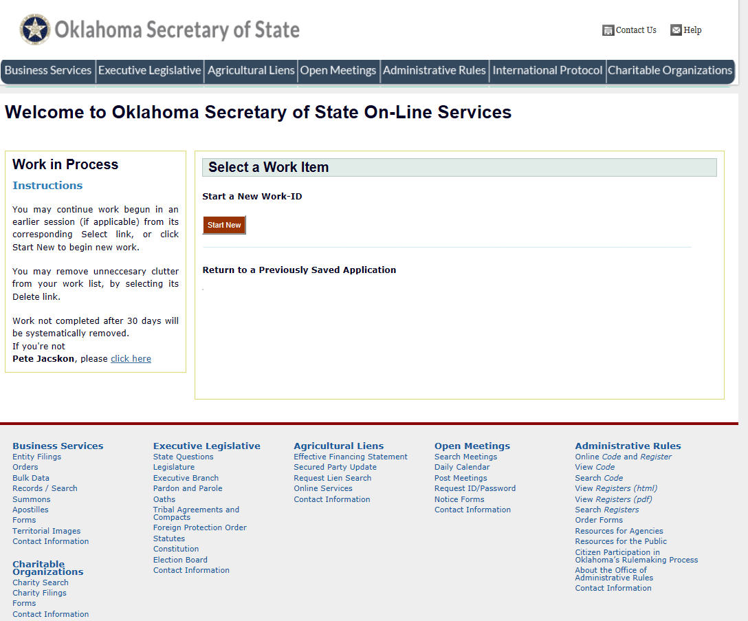 Free Oklahoma Certificate of Incorporation Not for Profit Corporation