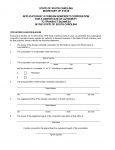 South Carolina Application by a Foreign Nonprofit Corporation for a Certificate of Authority in the State of South Carolina