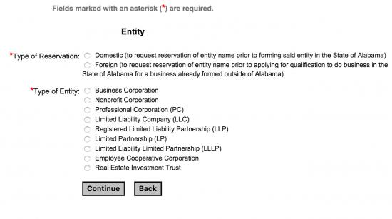 alabama-secretary-of-state-entity-type-selection