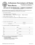 Arkansas Articles of Incorporation – Domestic Nonprofit | Form NPD-01