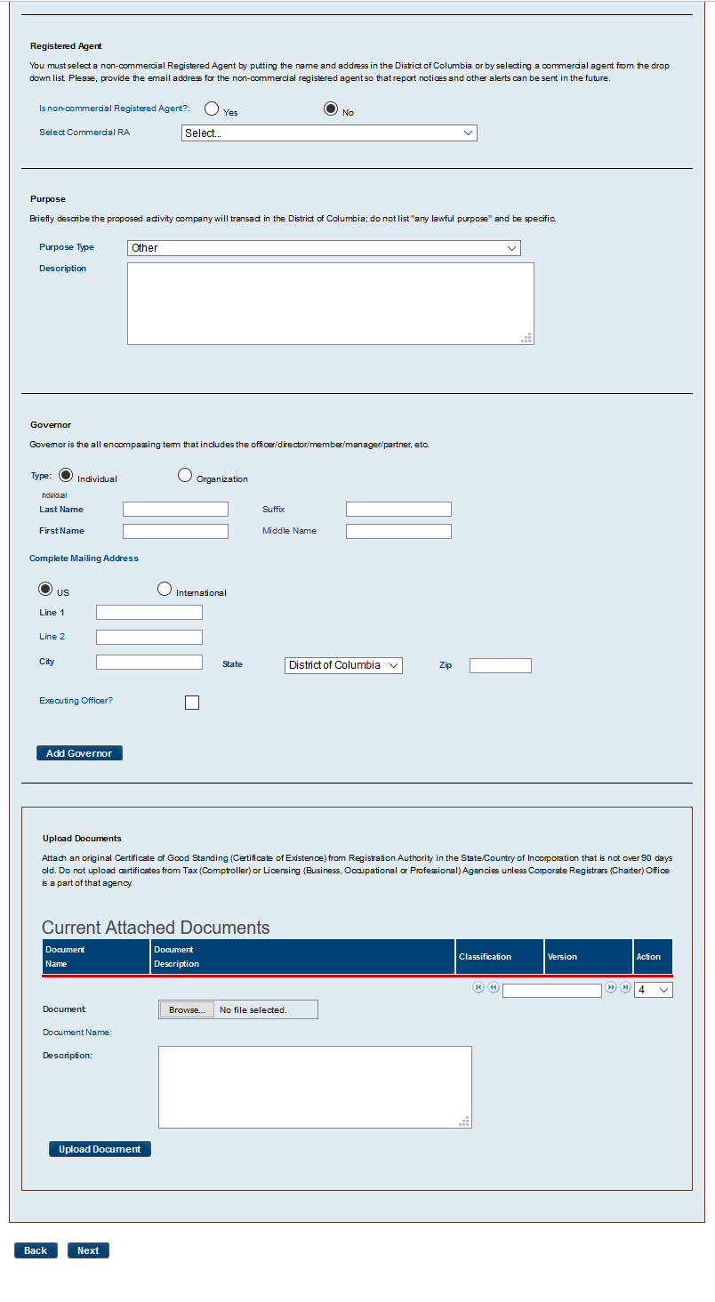 Free district of columbia foreign registration statement form dc for reg prof p5 1betcityfo Images