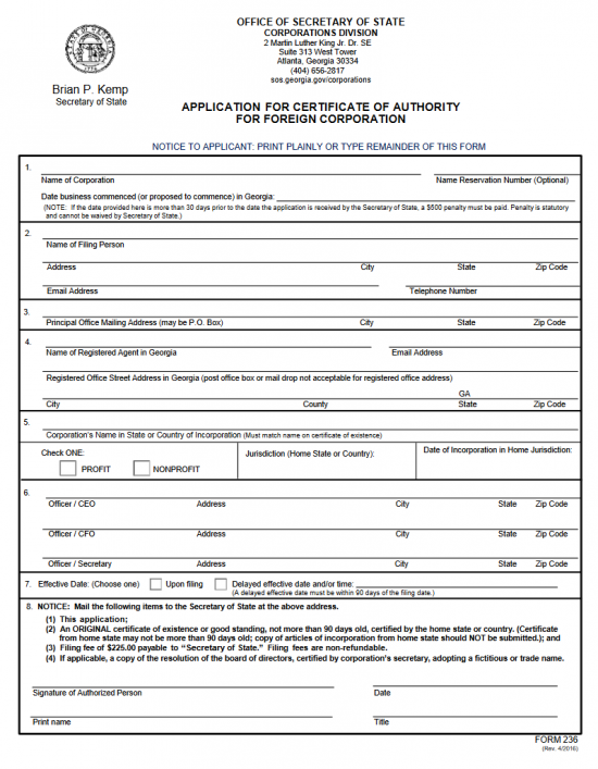 certificate authority and application form Certificate of business trust, initial list of trustees and state business license   amendment to application for certificate of authority, form notice of transfer.