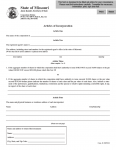 Missouri Articles of Incorporation General Business Corporation | Form Corp 41