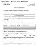 New Hampshire Articles of Incorporation for Professional Corporation | Form 11PC