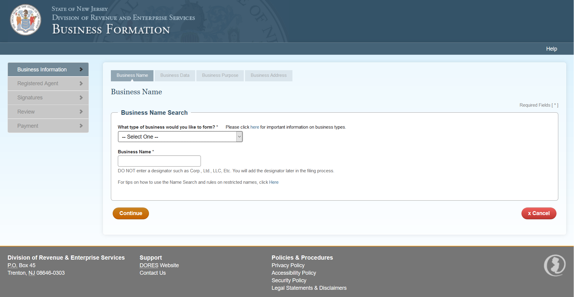Free new jersey articles of incorporation nj sec of state online p7 1betcityfo Images