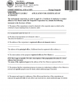 New Mexico Application For Certificate Of Authority for Foreign Nonprofit Corporation | Form FNP