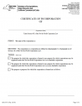 New York Certificate of Incorporation Not-For-Profit Corporation | Form DOS 1511-f