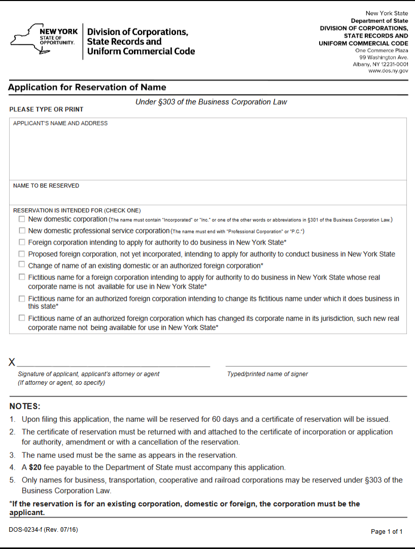 Free New York Articles Of Incorporation Templates | NY State ...