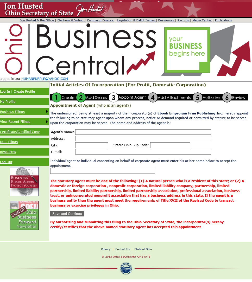 Free ohio articles of incorporation for profit domestic oh art of inc online p9 xflitez Images