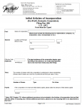 Ohio Articles of Incorporation For Profit Domestic Corporation | Form 532A