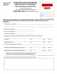 South Dakota Non-Stock Application for Certificate of Authority Foreign Nonprofit Corporation