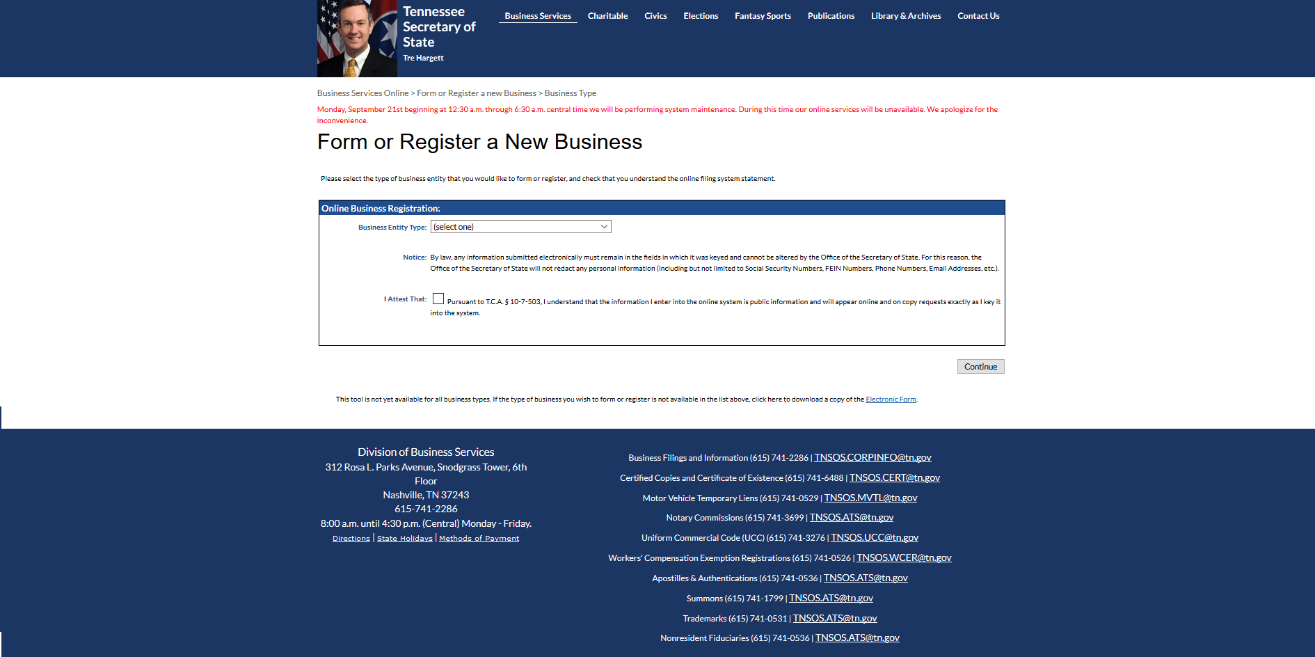 tennessee articles of incorporation
